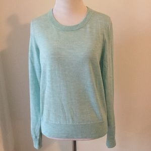 J Crew 100% merino wool crew neck sweater seafoam